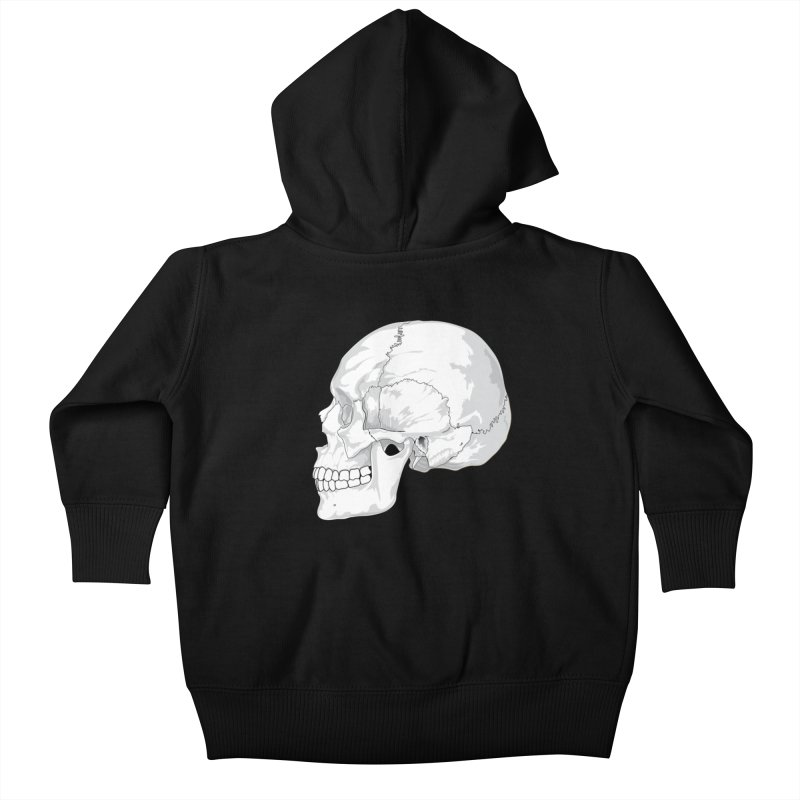 Skull Kids Baby Zip-Up Hoody by Shirt For Brains
