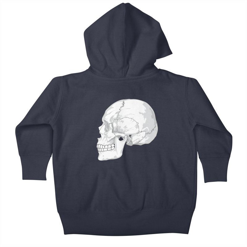Skull Kids Baby Zip-Up Hoody by Shirt For Brains