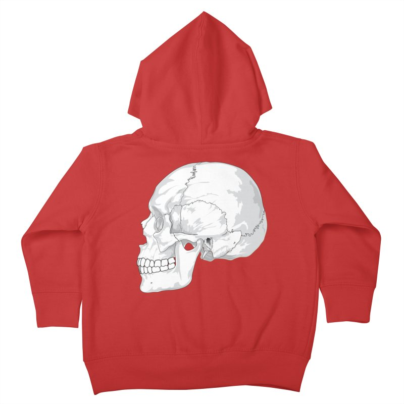 Skull Kids Toddler Zip-Up Hoody by Shirt For Brains