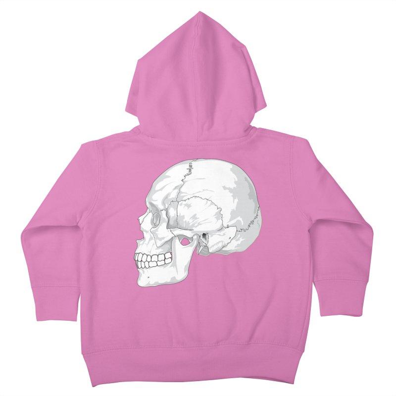 Skull Kids Toddler Zip-Up Hoody by Shirt For Brains