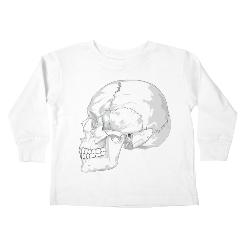 Skull Kids Toddler Longsleeve T-Shirt by Shirt For Brains