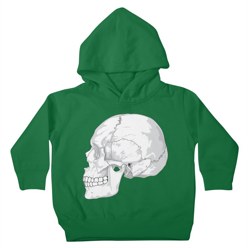 Skull Kids Toddler Pullover Hoody by Shirt For Brains