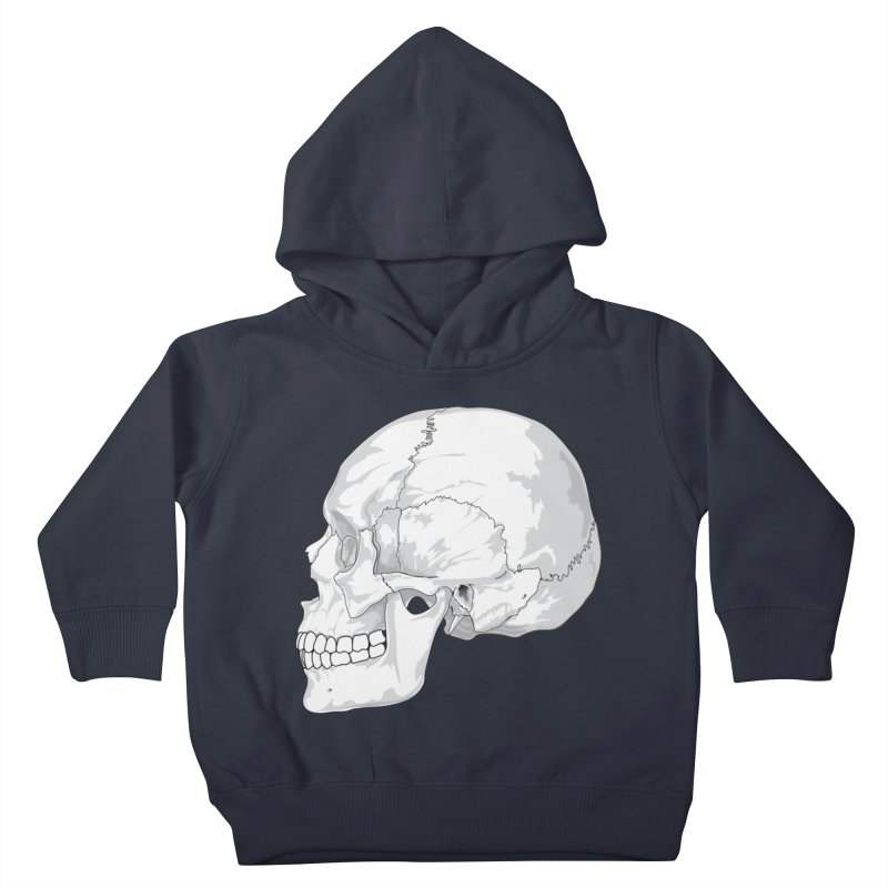 Skull Kids Toddler Pullover Hoody by Shirt For Brains