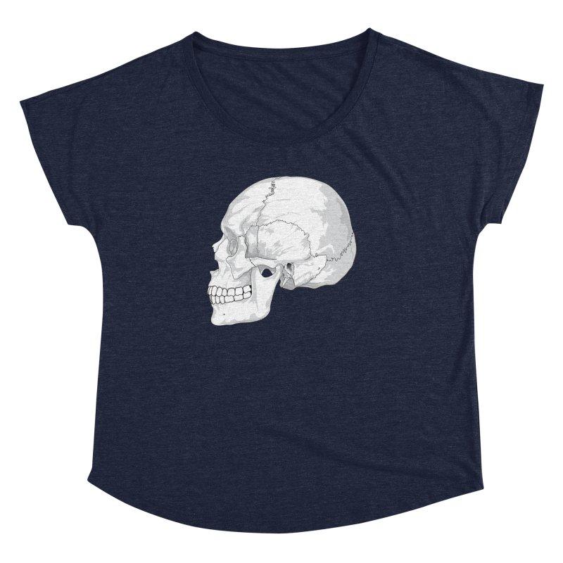 Skull Women's Dolman Scoop Neck by Shirt For Brains