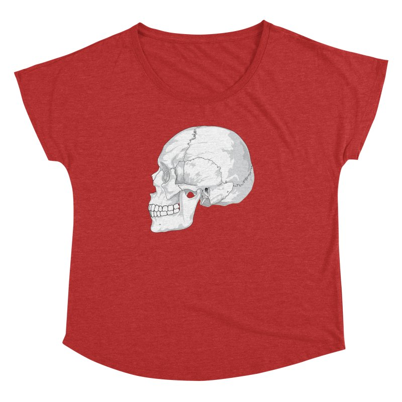 Skull Women's Dolman Scoop Neck by Shirt For Brains