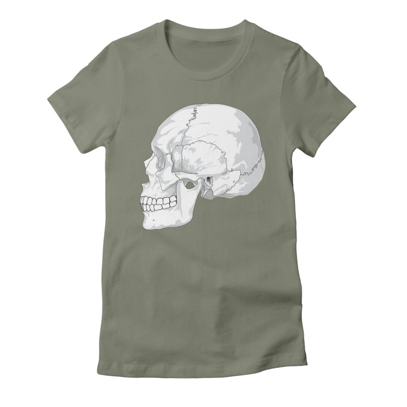 Skull Women's T-Shirt by Shirt For Brains
