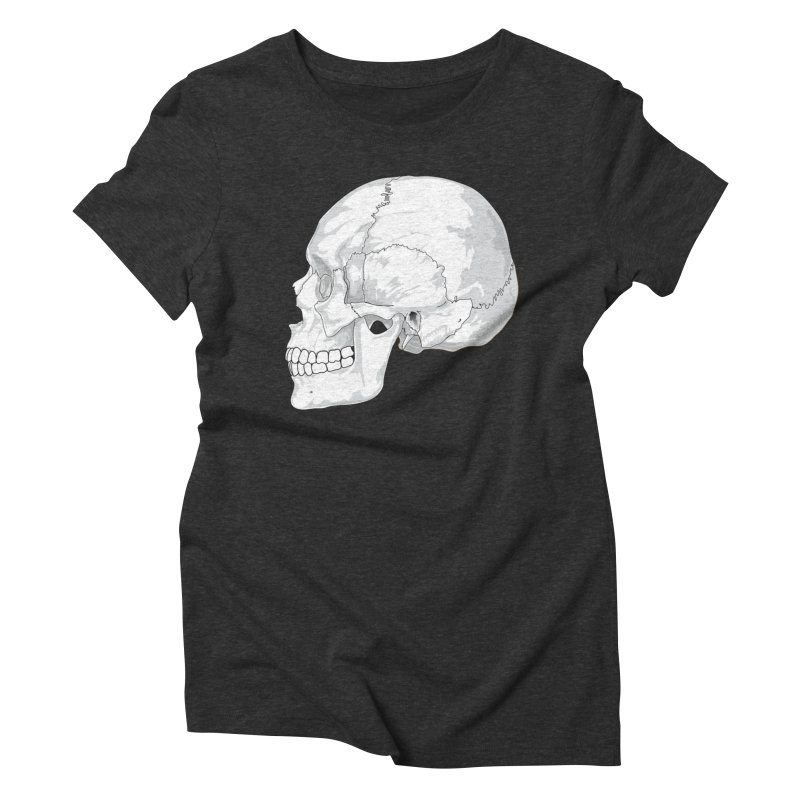 Skull Women's Triblend T-Shirt by Shirt For Brains
