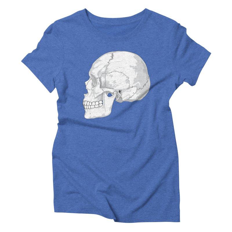 Skull Women's Triblend T-Shirt by Shirt For Brains