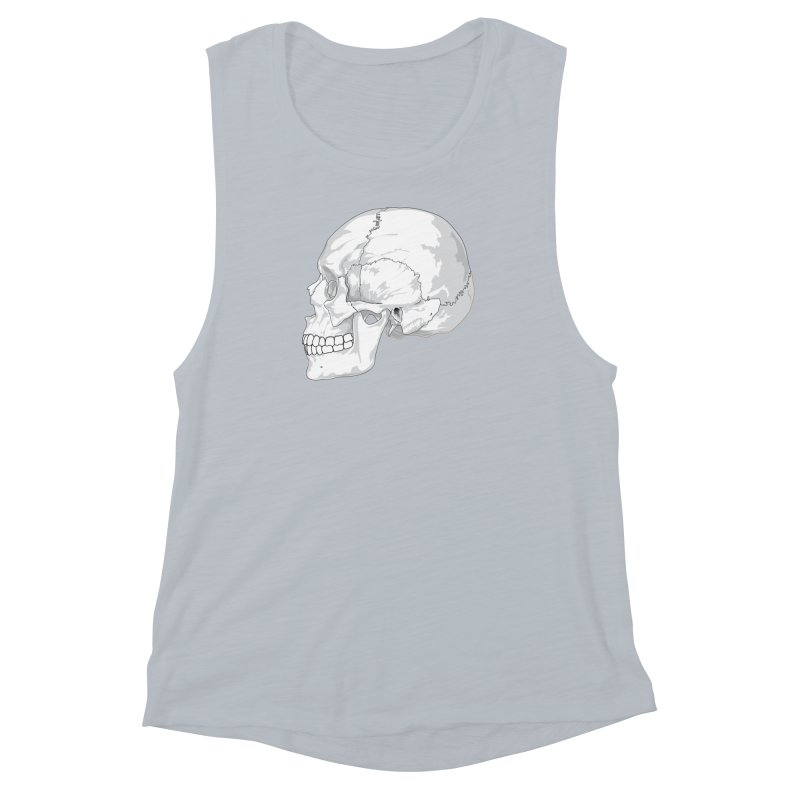 Skull Women's Muscle Tank by Shirt For Brains