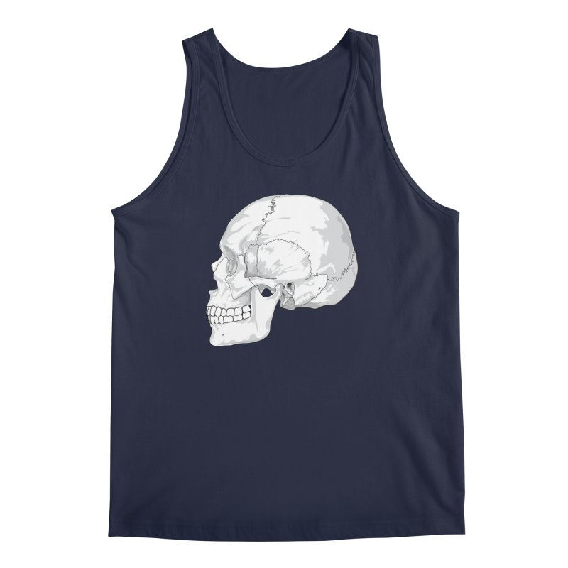 Skull Men's Regular Tank by Shirt For Brains