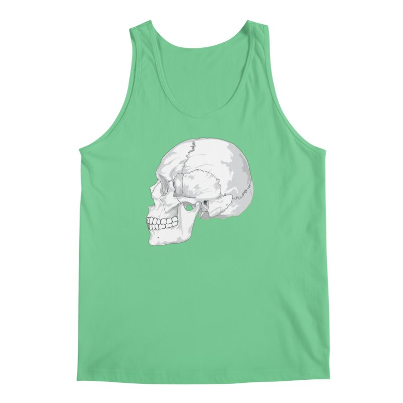 Skull Men's Regular Tank by Shirt For Brains