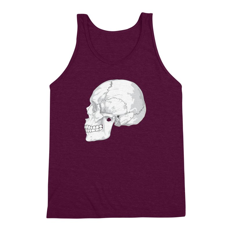 Skull Men's Triblend Tank by Shirt For Brains