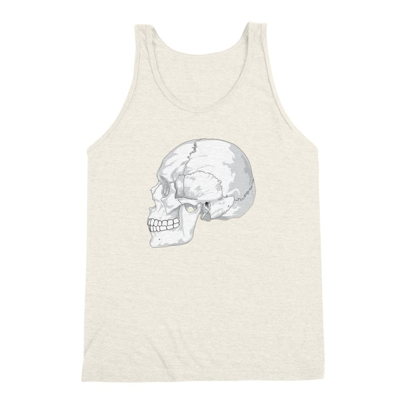 Skull Men's Triblend Tank by Shirt For Brains