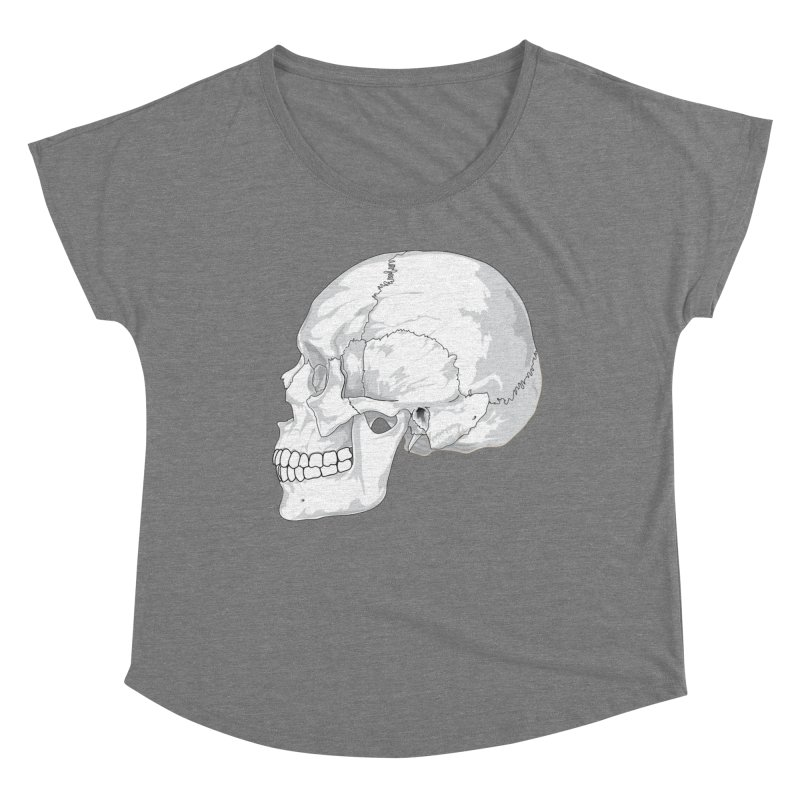 Skull Women's Scoop Neck by Shirt For Brains