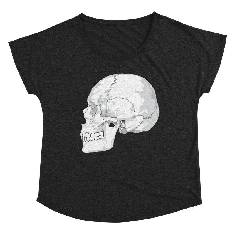 Skull Women's Scoop Neck by Shirt For Brains