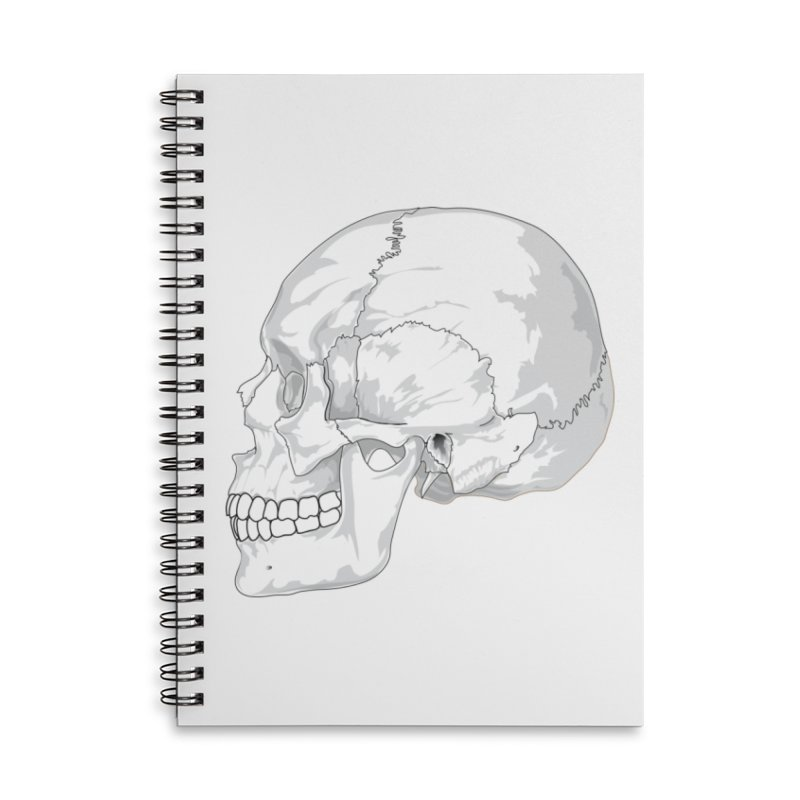 Skull Accessories Lined Spiral Notebook by Shirt For Brains