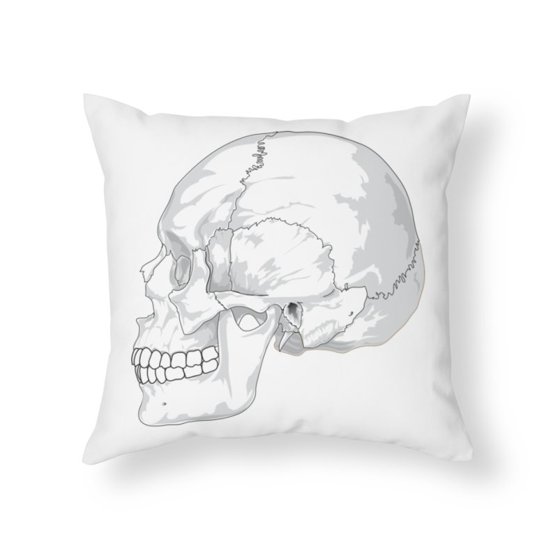 Skull Home Throw Pillow by Shirt For Brains