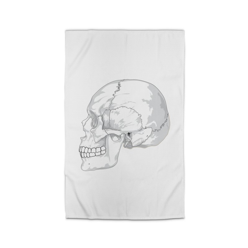 Skull Home Rug by Shirt For Brains