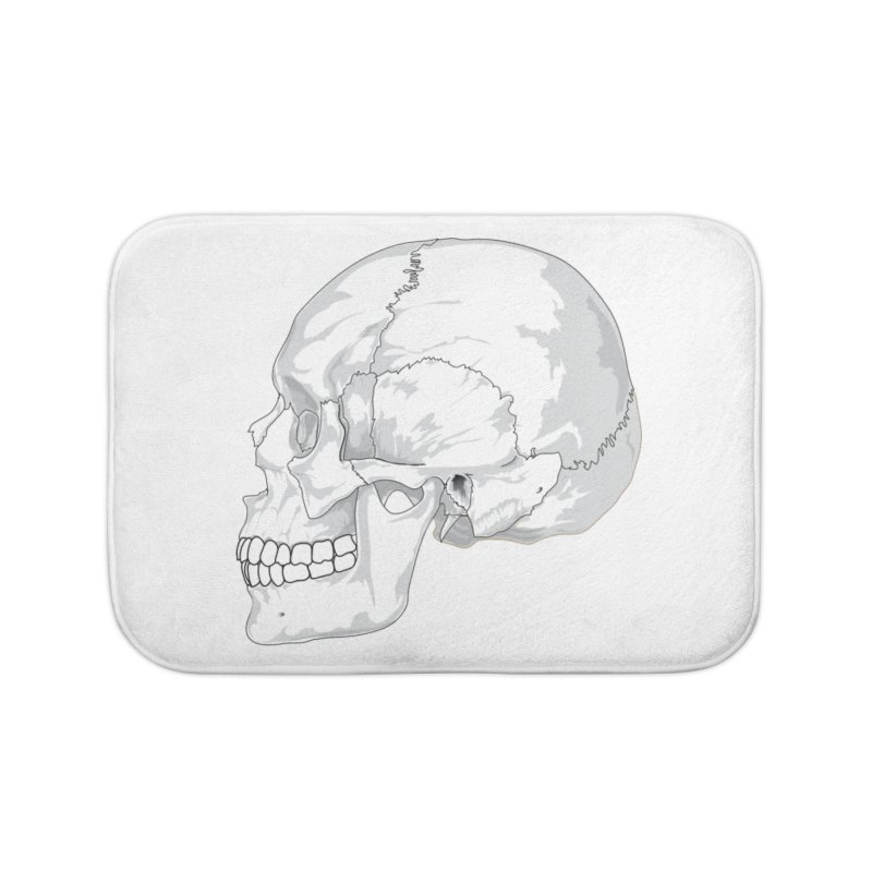 Skull Home Bath Mat by Shirt For Brains