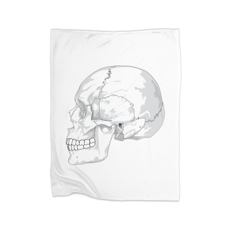 Skull Home Fleece Blanket Blanket by Shirt For Brains