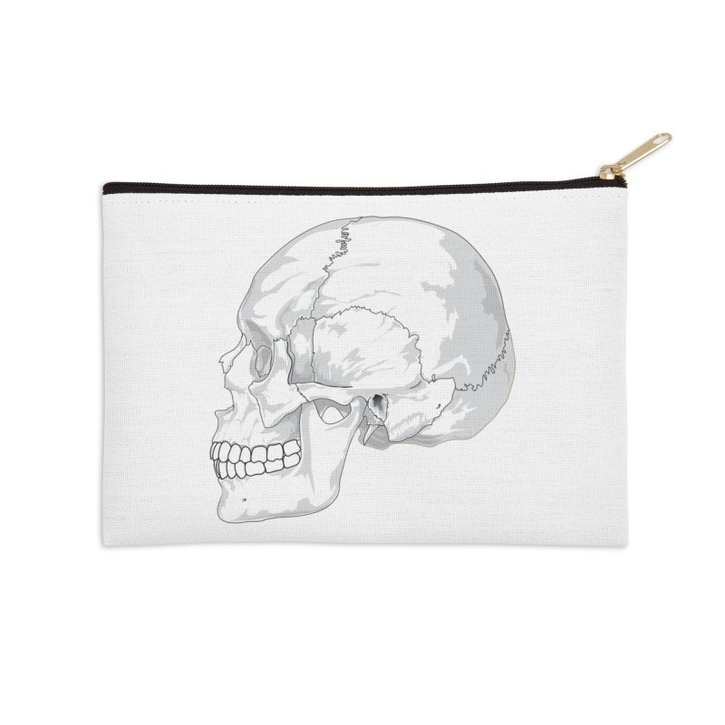 Skull Accessories Zip Pouch by Shirt For Brains
