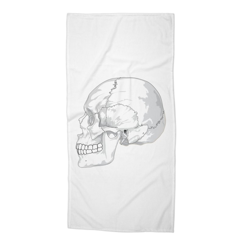 Skull Accessories Beach Towel by Shirt For Brains