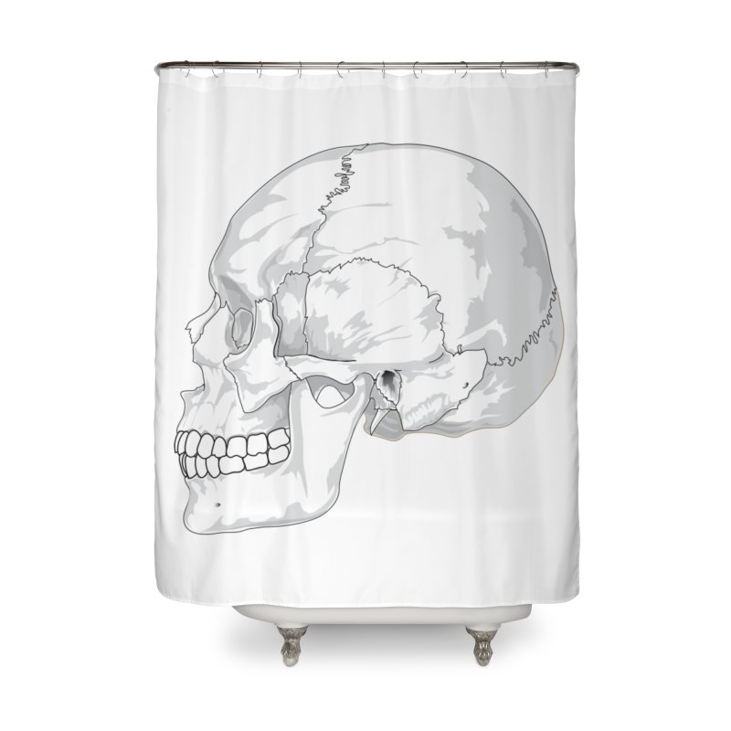 Skull Home Shower Curtain by Shirt For Brains
