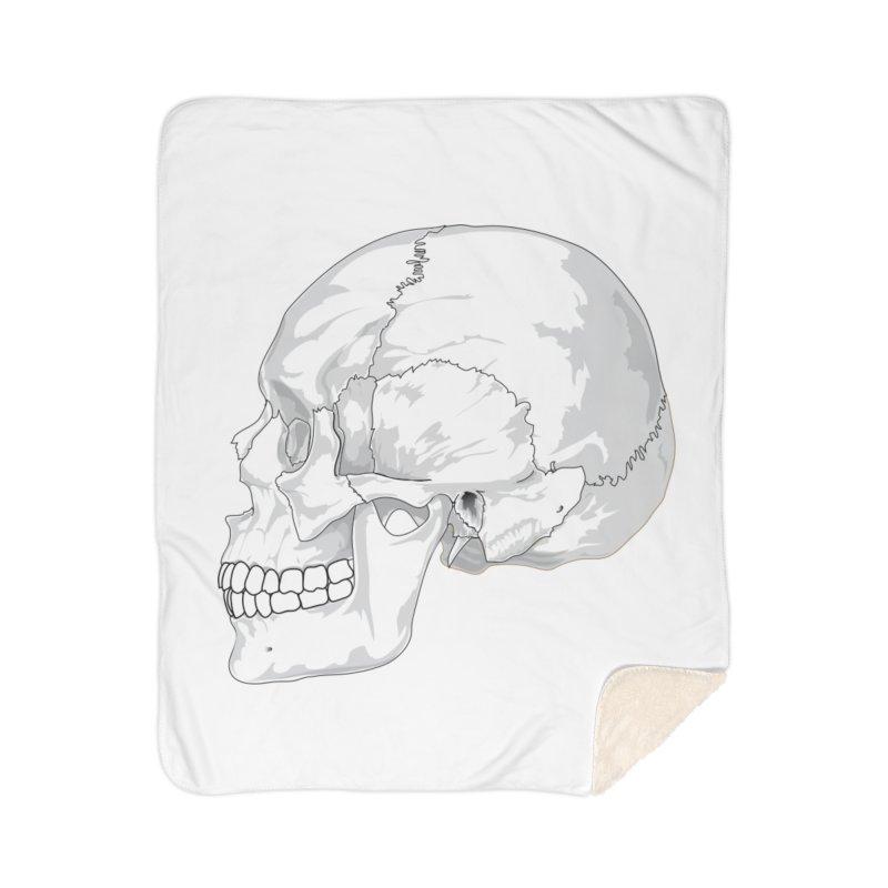Skull Home Sherpa Blanket Blanket by Shirt For Brains