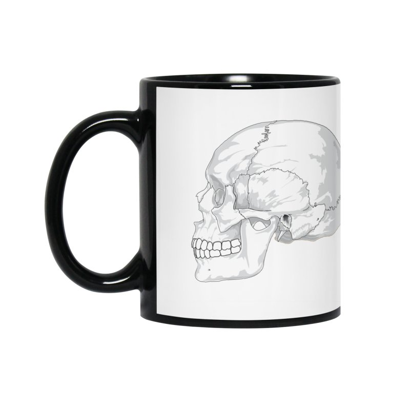 Skull Accessories Mug by Shirt For Brains