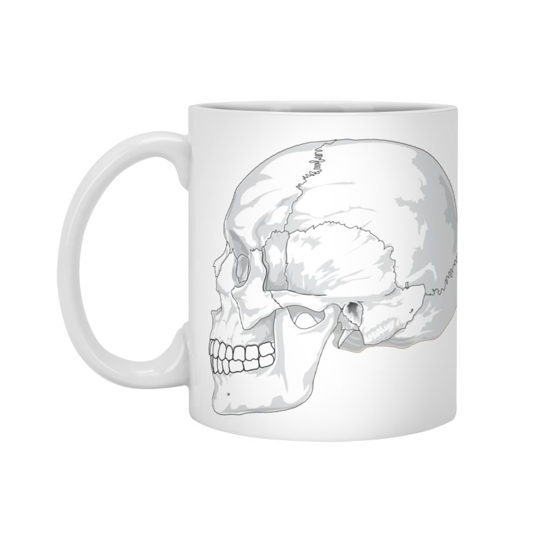 Skull Accessories Standard Mug by Shirt For Brains