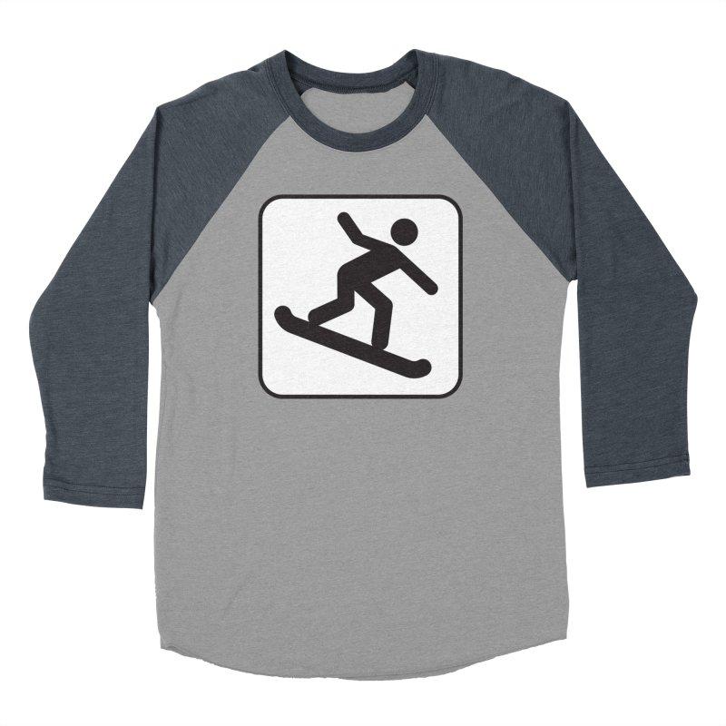 Snowboarder Men's Baseball Triblend Longsleeve T-Shirt by Shirt For Brains