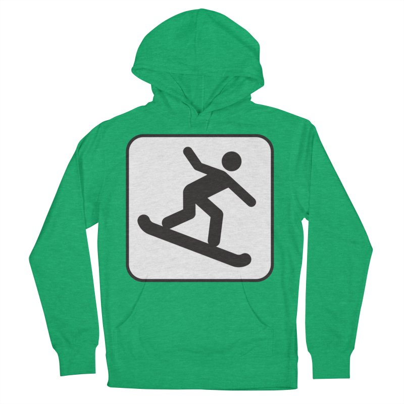 Snowboarder Women's French Terry Pullover Hoody by Shirt For Brains