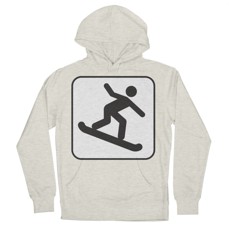 Snowboarder Men's French Terry Pullover Hoody by Shirt For Brains