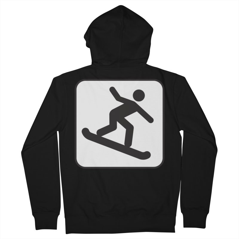 Snowboarder Women's Zip-Up Hoody by Shirt For Brains