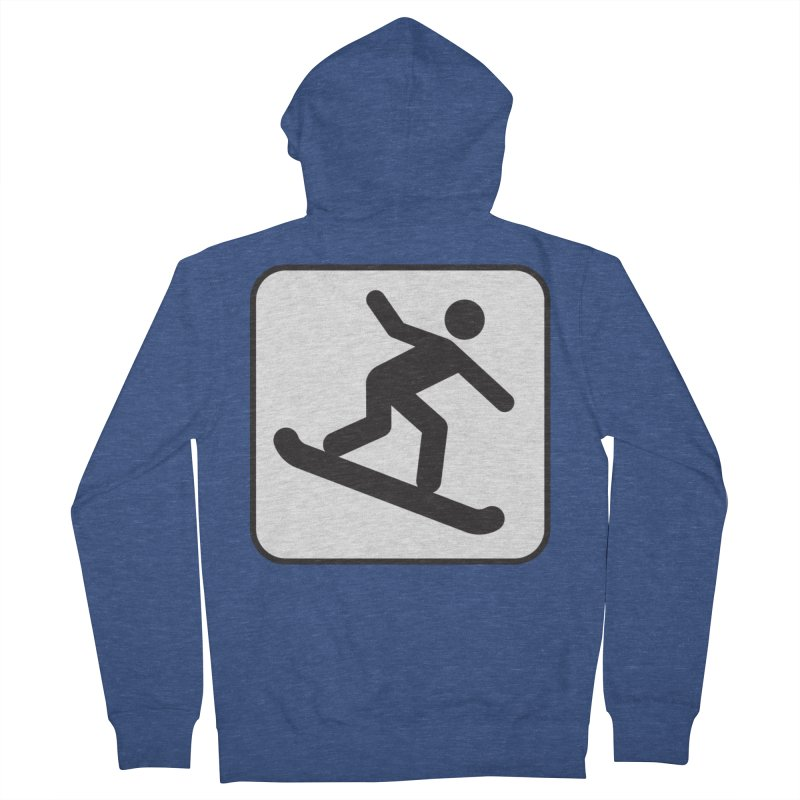 Snowboarder Men's French Terry Zip-Up Hoody by Shirt For Brains