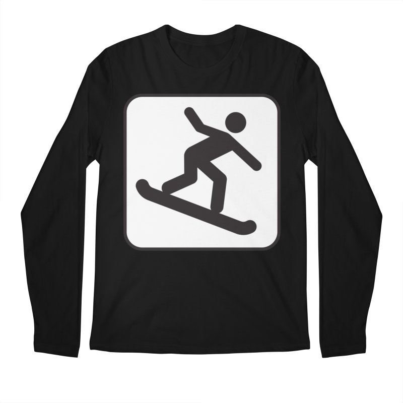Snowboarder Men's Regular Longsleeve T-Shirt by Shirt For Brains