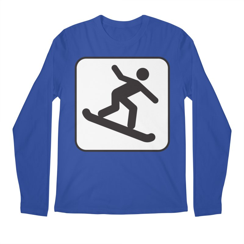 Snowboarder Men's Longsleeve T-Shirt by Shirt For Brains