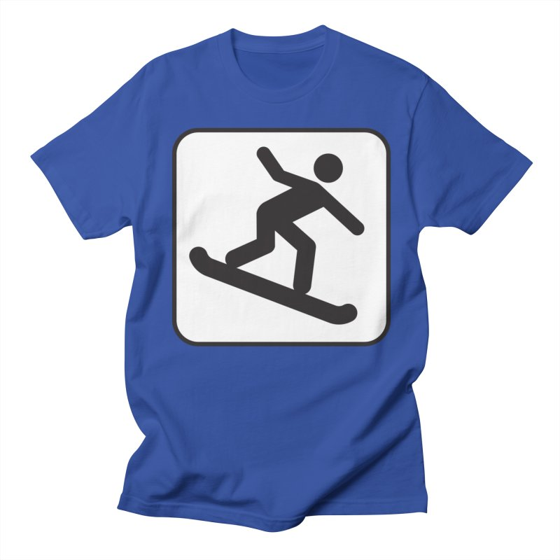 Snowboarder Men's T-Shirt by Shirt For Brains