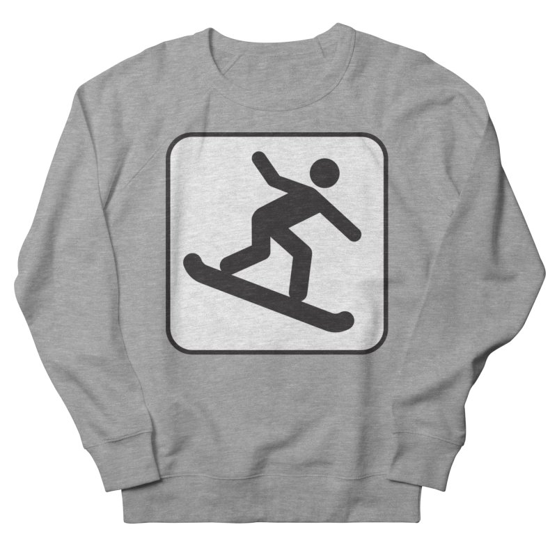 Snowboarder Women's French Terry Sweatshirt by Shirt For Brains