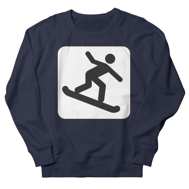 Snowboarder Men's French Terry Sweatshirt by Shirt For Brains