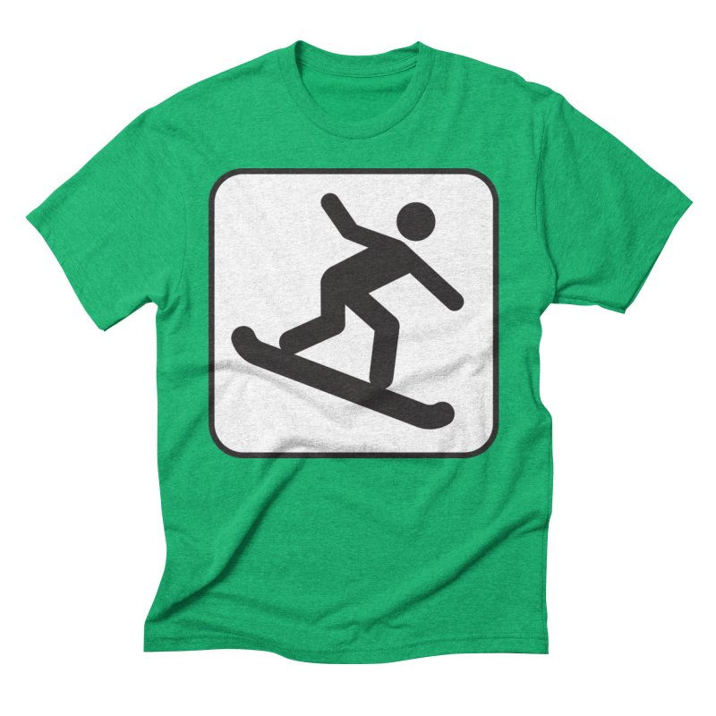 Snowboarder Men's Triblend T-Shirt by Shirt For Brains