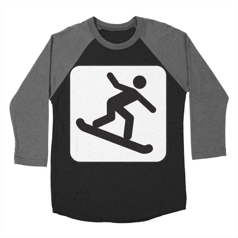 Snowboarder Women's Baseball Triblend Longsleeve T-Shirt by Shirt For Brains