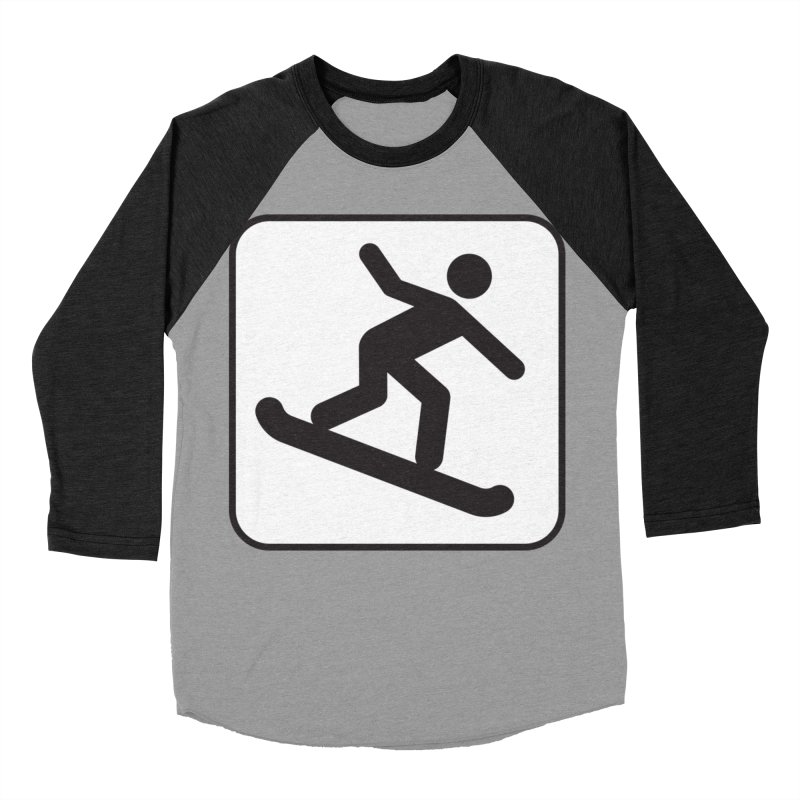 Snowboarder Women's Baseball Triblend Longsleeve T-Shirt by Shirt For Brains