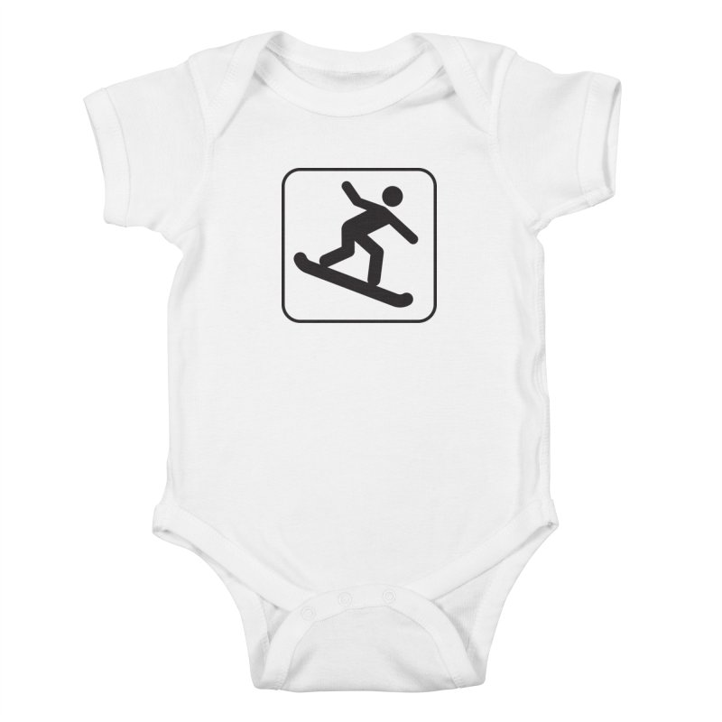 Snowboarder Kids Baby Bodysuit by Shirt For Brains
