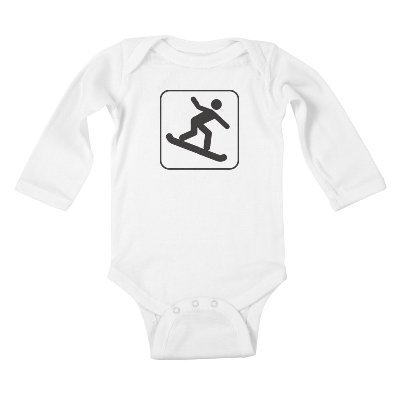 Snowboarder Kids Baby Longsleeve Bodysuit by Shirt For Brains