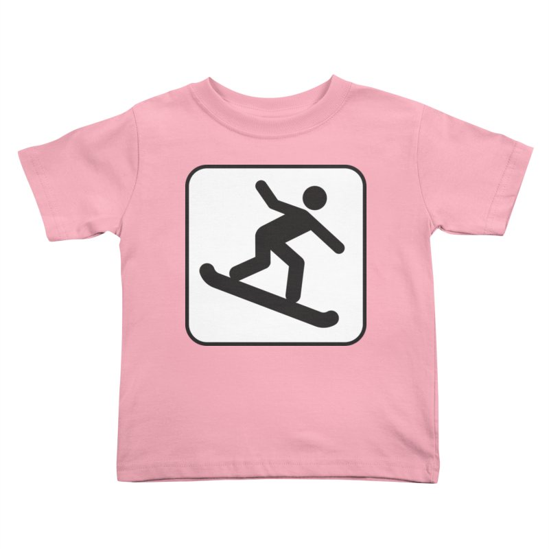 Snowboarder Kids Toddler T-Shirt by Shirt For Brains