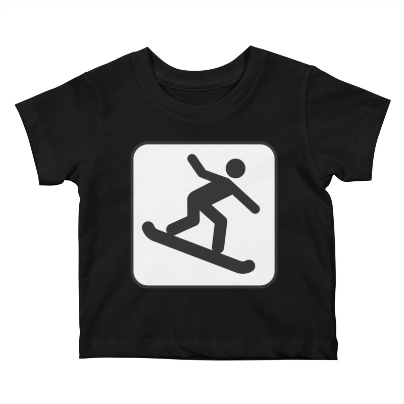 Snowboarder Kids Baby T-Shirt by Shirt For Brains
