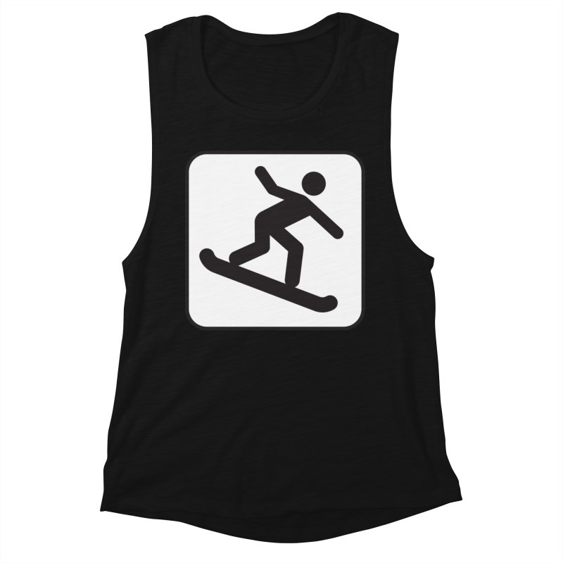 Snowboarder Women's Tank by Shirt For Brains