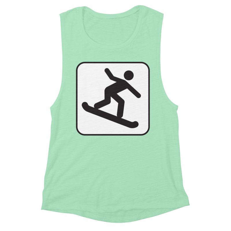 Snowboarder Women's Muscle Tank by Shirt For Brains