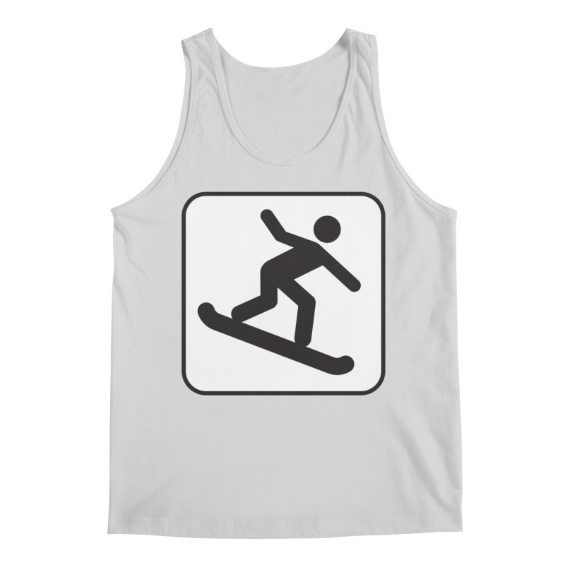 Snowboarder Men's Tank by Shirt For Brains
